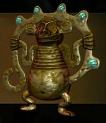 Gold Monkey Figurine