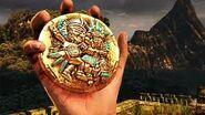 Nate holding the Amulet of Eternity