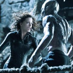 Selene confronting Marcus.