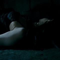 Grushenka unconscious after hitting Selene