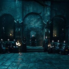 The Council and Tanis in <i>Rise of the Lycans</i>