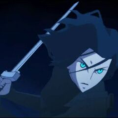 Selene with a sword.