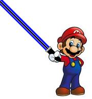 New Mario With Blue Darksaber