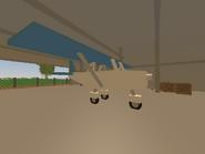Belfast Airport - plane inside hangar 2