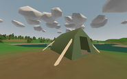 Clearwater Campground - green tent 3