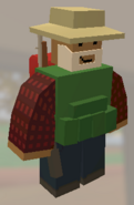 Player wearing Fishing Hat