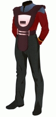 Uniform duty red lt jg security armor