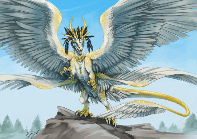 File:Commission Angelic Dragon by pinali-1-.jpg