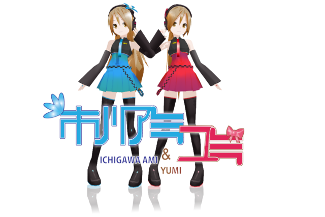 File:Lat mmd ichigawa ami and yumi by mania211-d5kdmd7.png