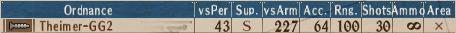 Mortar-MG T2-5 - Stats
