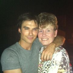 Ian on set with fan 402