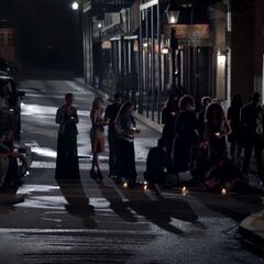 The Coven grieving the loss of Jane-Anne