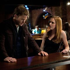 Jenna talking with Alaric