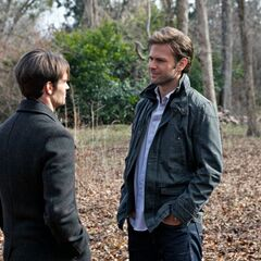Elijah and Alaric talking about Jenna