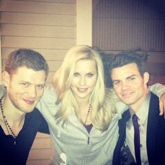Joseph, Claire and Daniel in the set