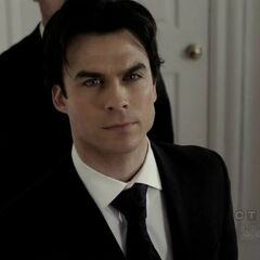 Damon to the rescue being Elena's escort at the last minute when Stefan didn't show.