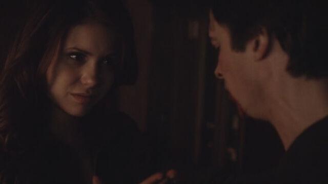 File:Katherine trying to make Damon feed on her.jpg