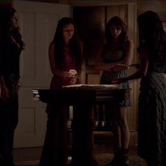 Katherine, Amara, Elena and Qetsiyah