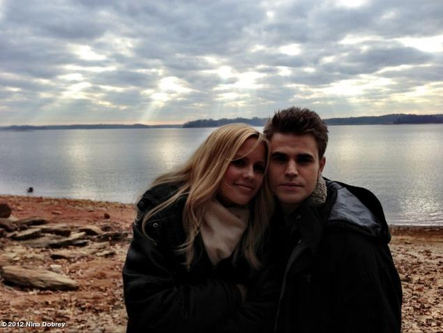 Claire Holt and paul wesley