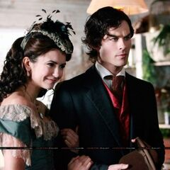 Damon and Katherine talking to Pearl (1864).