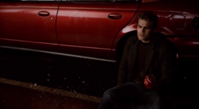 Stefan with Enzo's heart