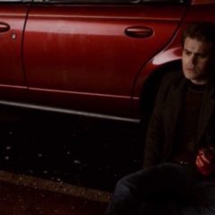 Stefan with Enzo's heart