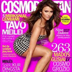 Cosmopolitan — Oct 2013, Lithuania, Nina Dobrev