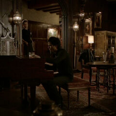 Damon playing the piano