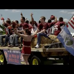 The Mystic Falls football team float