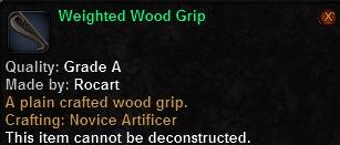 2 Weighted Wood Grip