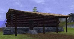 Thestra one story log cabin