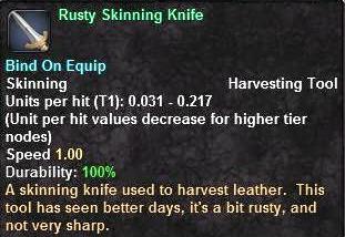 Rusty Skinning Knife