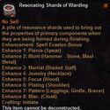 Resonating shards warding