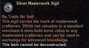 Silver masterwork sigil