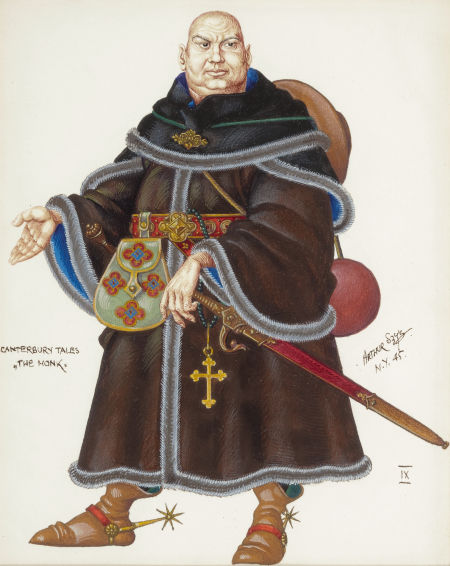 the canterbury tales clerk and monk The canterbury tales clipart gallery provides 24 illustrations of characters from geoffrey  the clerk of oxford the clerk of  the monk the monk from chaucer's.