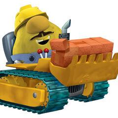Mr. Lunt (with bulldozer) in <i>