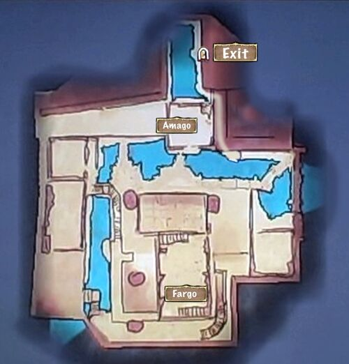 Map of Arsenal Catacombs