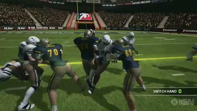 Backbreaker Xbox 360 Gameplay - The Run Game