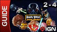 Angry Birds Star Wars Death Star Level 2-4 3 Star Walkthrough