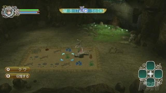 Rune Factory Frontier Nintendo Wii Video - Fighting and planting seed