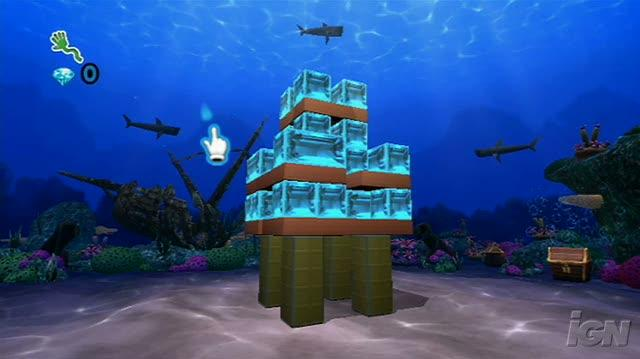 Boom Blox Bash Party Nintendo Wii Gameplay - Underwater Video