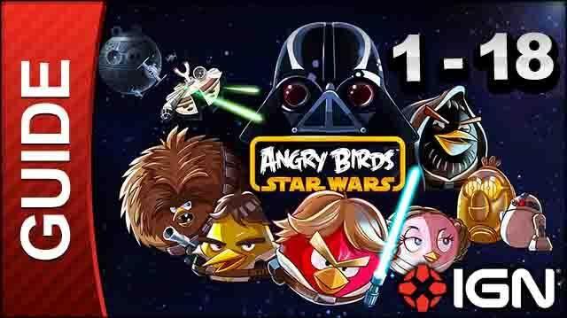 Angry Birds Star Wars Tatooine Level 18 3-Star Walkthrough
