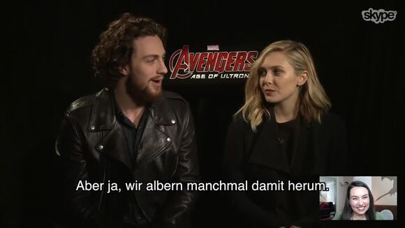 Avengers Age of Ultron Skype-Interview (Deutsch)