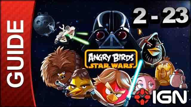 Angry Birds Star Wars Death Star Level 2-23 3 Star Walkthrough
