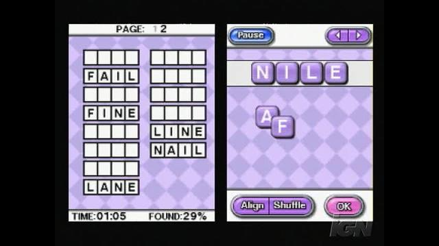 Crosswords DS Nintendo DS Gameplay - Anagram