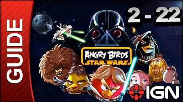 Angry Birds Star Wars Death Star Level 2-22 3 Star Walkthrough