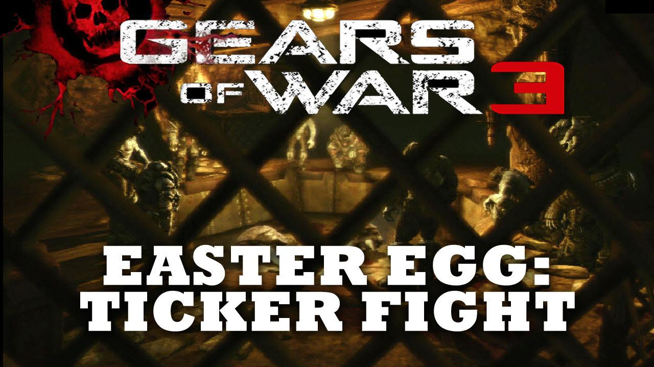 Gears of War 3 Easter Egg Ticker Fight (Hidden Cutscene) HD