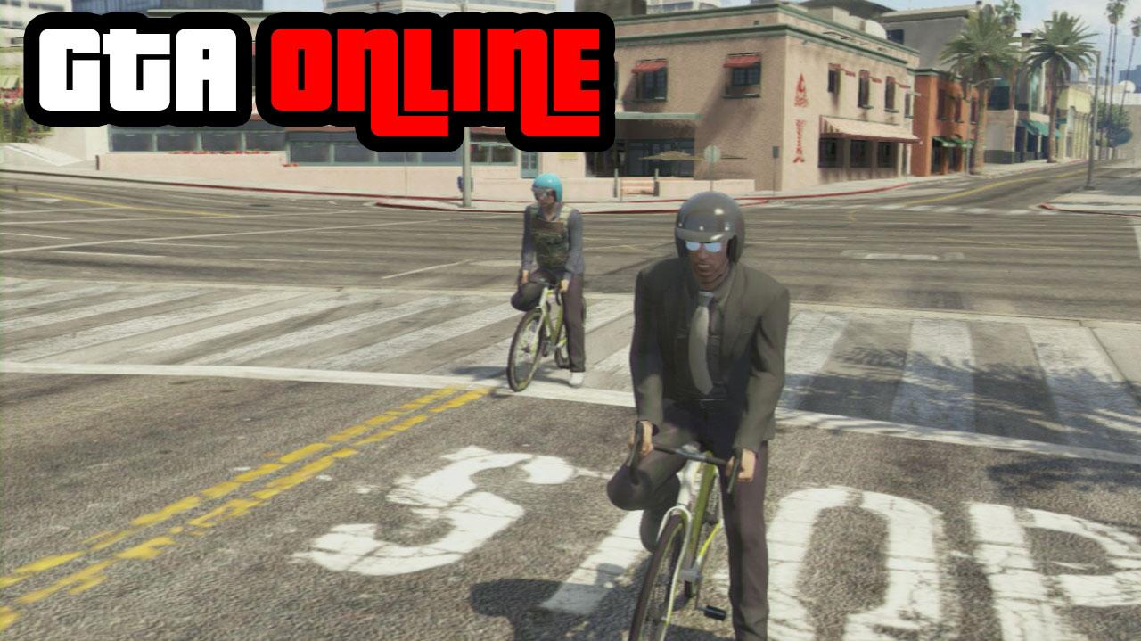GTA Online Bike Race Cycle Path Gameplay Clip