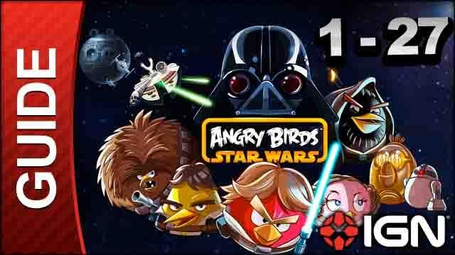 Angry Birds Star Wars Tatooine Level 1-27 3 Star Walkthrough