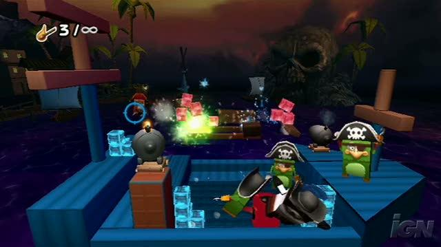 Boom Blox Bash Party Nintendo Wii Gameplay - Cannon Fire Video